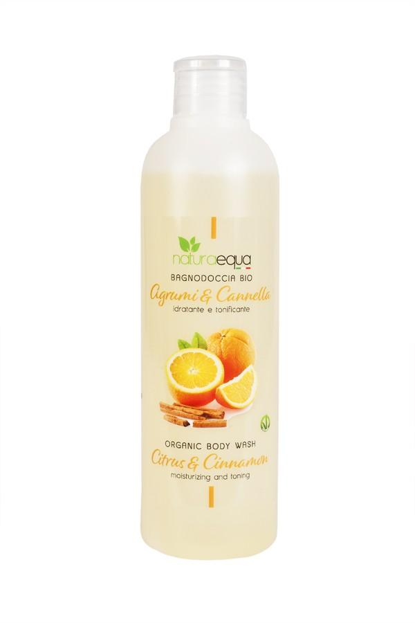 Citrus and cinnamon body wash
