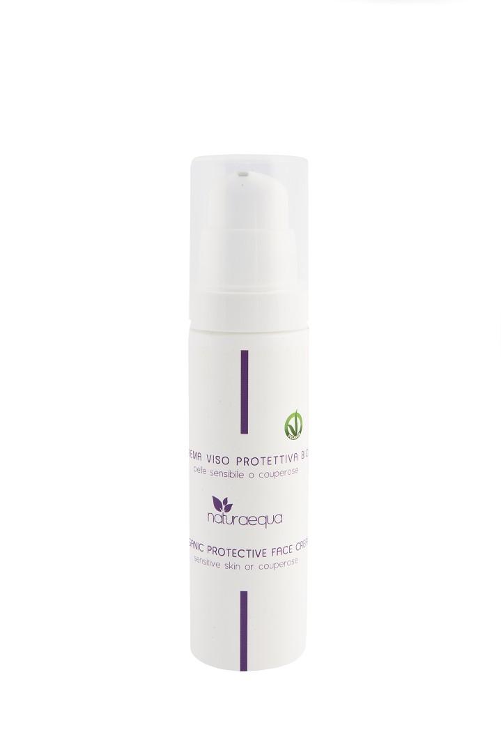 Organic protective face cream