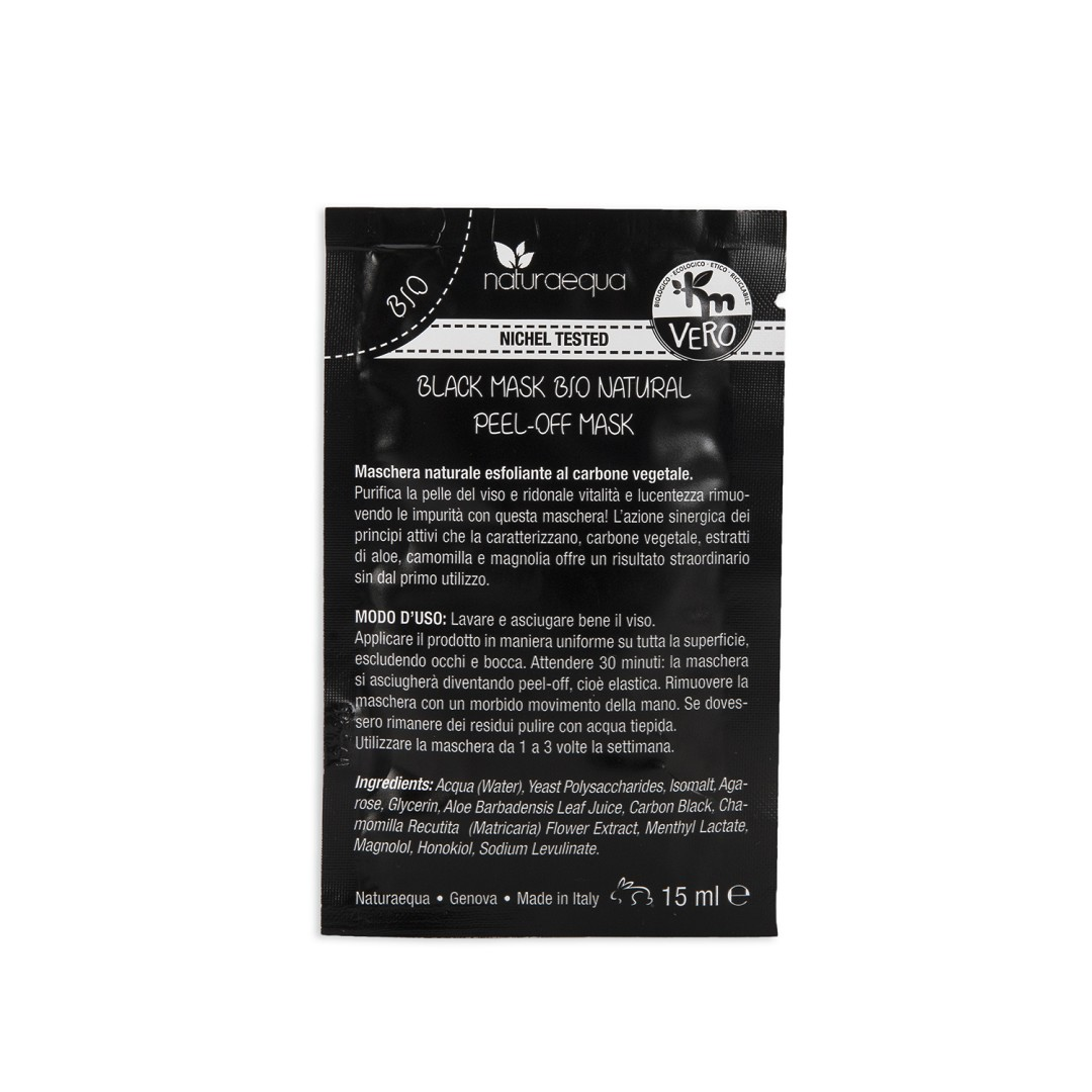 Organic black mask – natural/peel-off mask (single-dose)